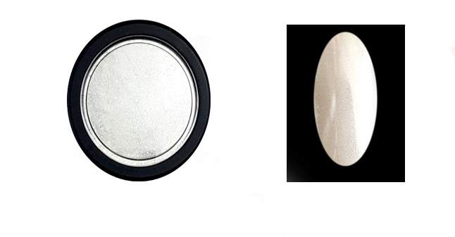 Chrome mirror por fehér extra finom szemcsés