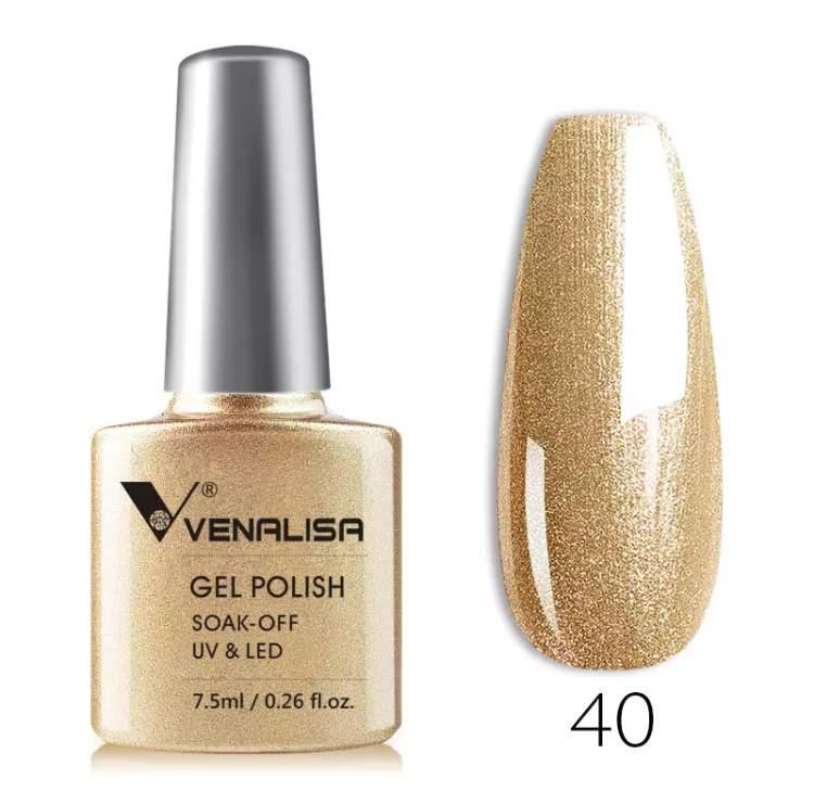 Új Venalisa géllakk 40 csillámos arany