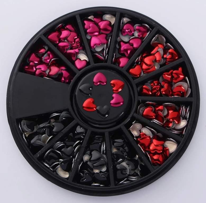 Szív díszítő elem 3 színű